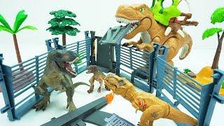 Jurassic World Dinosaur escape. Super wings transforming appeared!