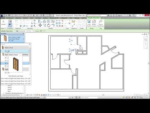 Doors and windows  Revit 2018: Essential Training for Architecture from LinkedIn Learning Mp3