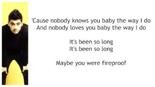 Fireproof - One Direction - Lyrics on screen - Pictures
