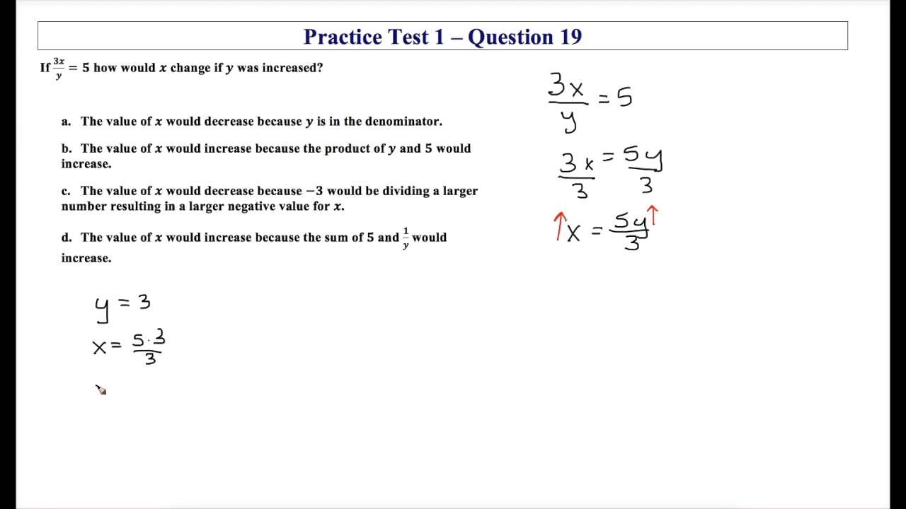 Algebra Eoc Practice Test 1 Question 19 Youtube border=