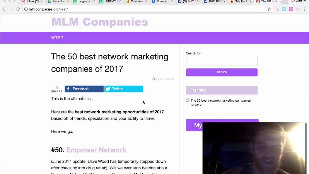 Rankings: 50 best network marketing companies of 2019