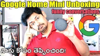 Google Home Mini Unboxing : Funny Conversations With Google Home | In Telugu Tech-Logic