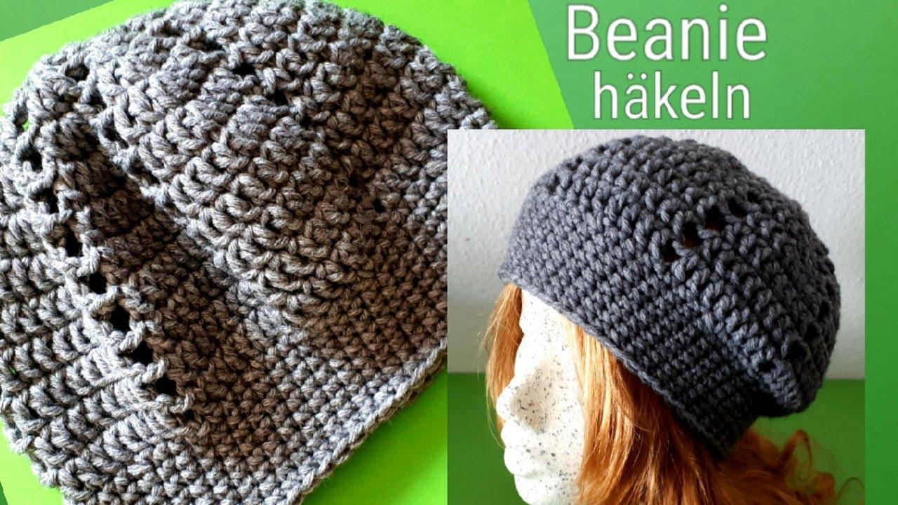Beanie Häkeln Einfache Mütze Häkeln Youtube