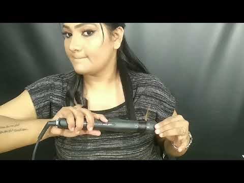 How to curl hair with straightener in tamil / flat iron /tutorial in Tamil