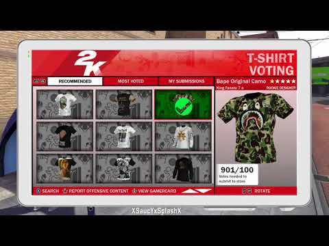 f6ef3418 How To Get Custom T-Shirts on NBA 2K18 (Bape, Supreme, BBB, Gucci and etc)  - YouTube