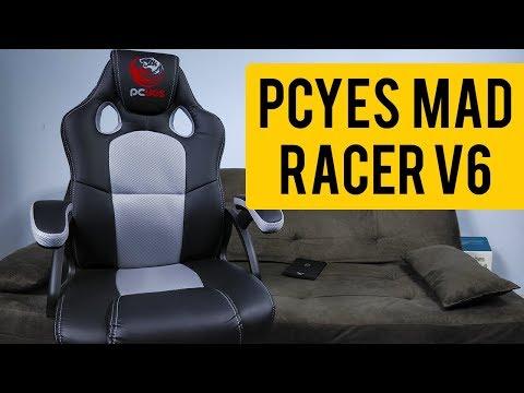 Você PRECISA conferir essa CADEIRA GAMER SENSACIONAL!! Pcyes Mad Racer V6 - Unboxing e Montagem