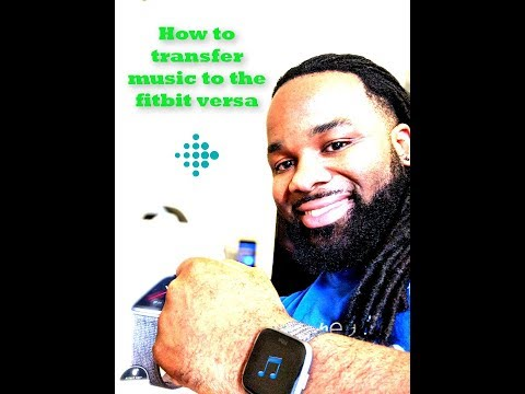How to transfer music to the fitbit versa