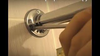 Очень надёжный карниз для шторки в ванной. Простой монтаж. Сделай своими руками. Ремонт в квартире.