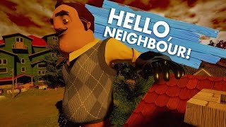 ESCAPING THE GIANT NEIGHBOR CUTSCENE   Hello Neighbor Mods (Hello Neighbour Pre Alpha Gameplay)