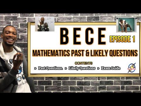 Junior Waec (BECE) Mathematics Past & Likely Questions | Episode 1