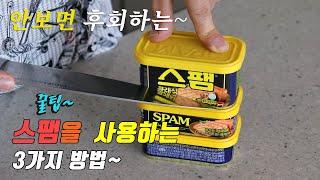 간단하고 맛있는 스팸 요리 3가지~ 강쉪^^  kore…