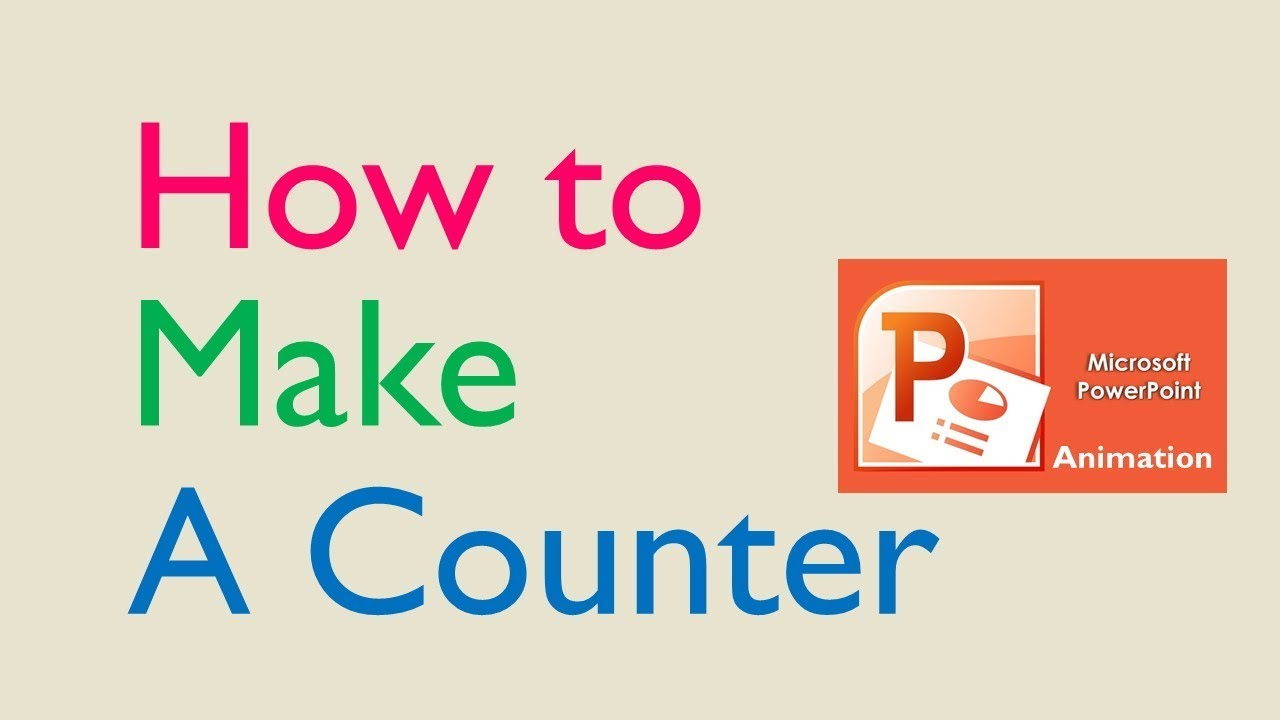 How to Make a PowerPoint Counter || PowerPoint Animation