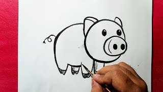 pig easy draw drawing very