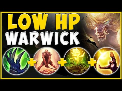 100% UNFAIR STRATEGY! SURVIVE ANYTHING WITH LOW HP WARWICK BUILD! WARWICK TOP! - League of Legends