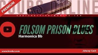 Johnny Cash - Folsom Prison Blues - Harmonica Bb