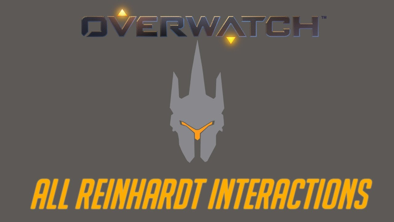 Overwatch - All Reinhardt Interactions + Unique Kill Quotes