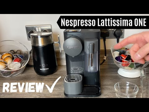Nespresso Lattissima One Coffee Machine Review | Drinks made with milk frother + heat and taste test