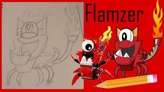 LEGO Mixels Drawing Video: Flamzer (Infernites Tribe)