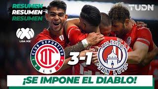 Resumen y goles | Toluca 3 - 1 Atlético San Luis | Liga MX - Apertura 2019  - J11 | TUDN