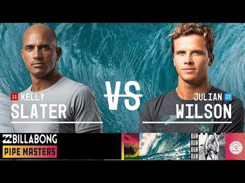Kelly Slater vs. Julian Wilson - Semifinals, Heat 2 - Billabong Pipe Masters 2018