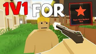 If you beat me, you will get a MYTHICAL Skin - Unturned 1vs1