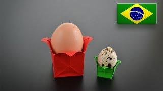 Origami: Base para Ovo - Instruções em Português BR