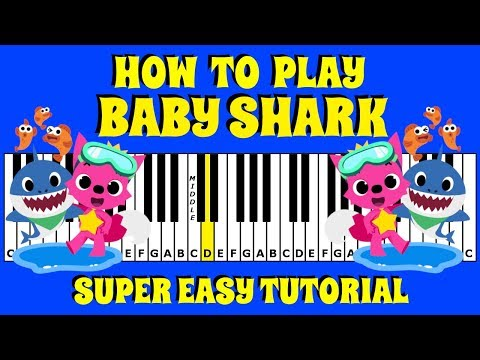 How To Play Baby Shark on the Piano / Keyboard | Super Easy Tutorial | No Chords