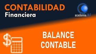 El Balance contable - Contabilidad capítulo 7 curso - academia JAF