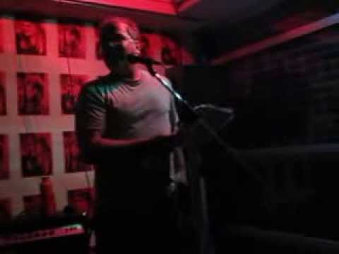 Byron Coley poetry reading at Stadslimiet, Antwerpen, 2013-08-19
