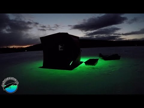 Will Glow Lights Catch You More Fish At Night? Late Season Ice Fishing