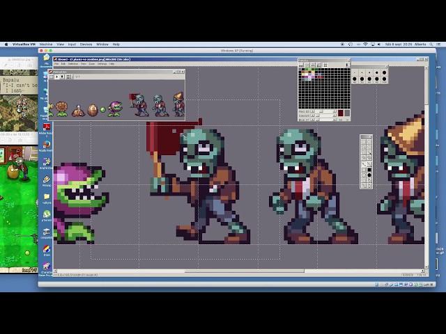 PIXEL ART TIMELAPSE - Plants vs Zombies