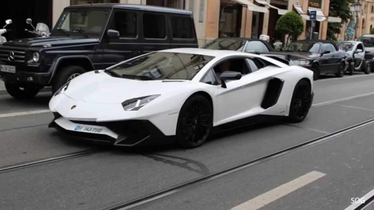 First Lamborghini Aventador Sv In Munich Awesome Sounds