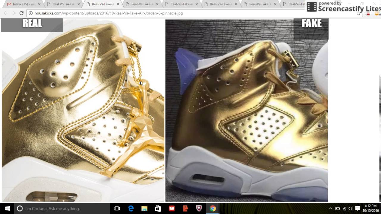 375af2a3446f06 Real VS Fake Unauthorized Air Jordan 6 Pinnacle  Quick Tips To Avoid Them -  YouTube
