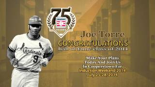 Joe Torre Elected to the Baseball Hall of Fame Class of 2014