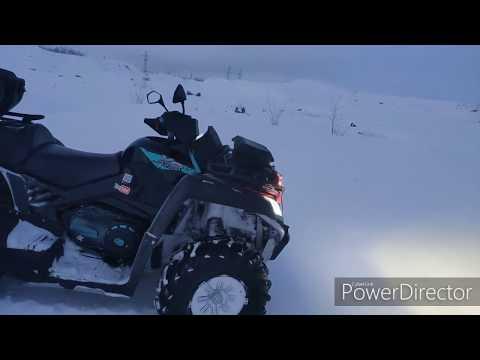 Зима на квадроцикле CFmoto X8