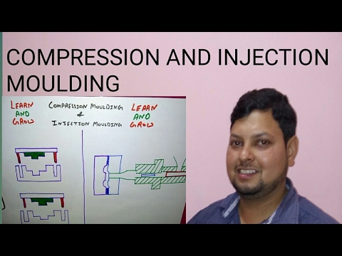COMPRESSION AND INJECTION MOULDING (हिन्दी )!LEARN AND GROW