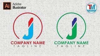 How to create J letter logo in illustrator
