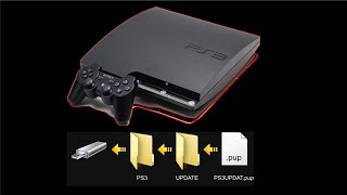 PS3 How To Put The Update Firmware On USB Tutorial