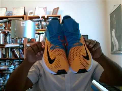 air max 270 black orange on feet
