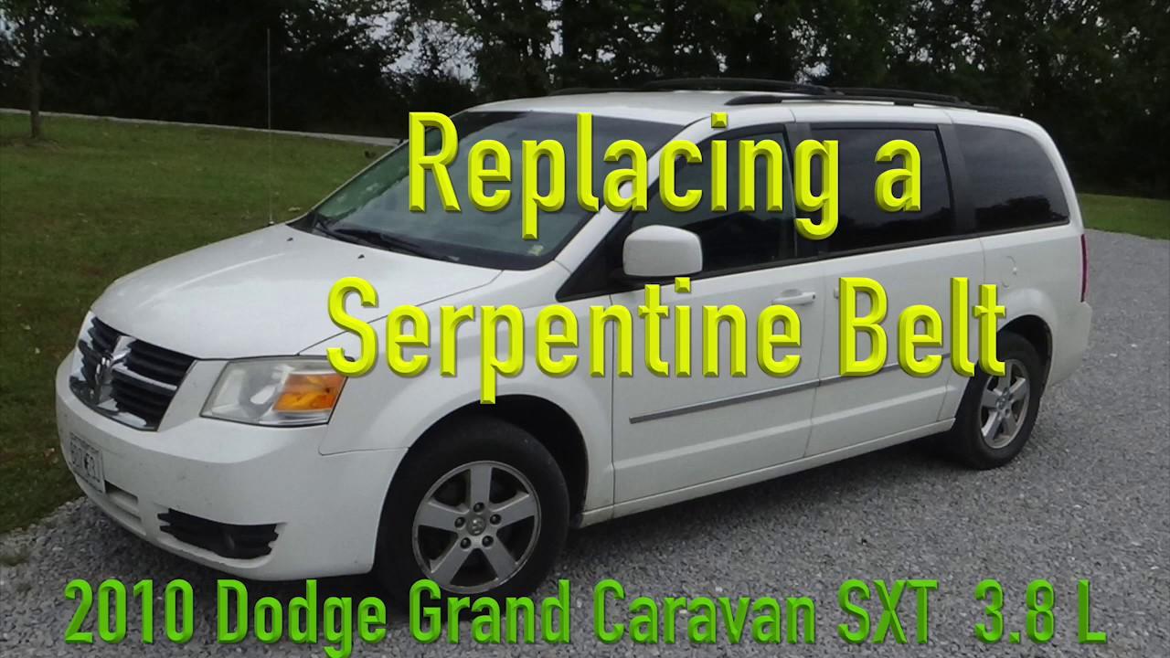 caravan serpentine belt replacement 2010 dodge grand caravan sxt 3 8l youtube caravan serpentine belt replacement 2010 dodge grand caravan sxt 3 8l