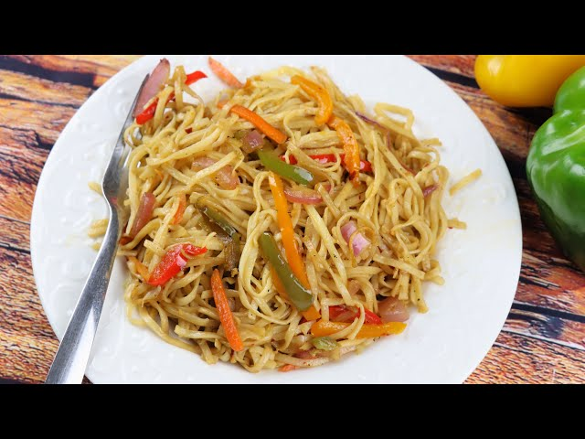 রেস্টুরেন্ট স্টাইলে ভেজিটেবল চাওমিন নুডুলস | Veg Chowmein Noodles | Street Style Veg Chowmein
