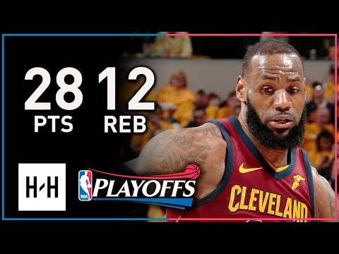 LeBron James Full Game 3 Highlights Cavs vs Pacers 2018 Playoffs - 28 Points, 12 Reb, 8 Assists!