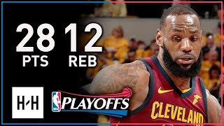 LeBron James Full Game 3 Highlights Cavs vs Pacers 2018 Playoffs - 28 Points 12 Reb 8 Assists