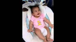 My Baby Enjoying Fisher Price Cradle Swing