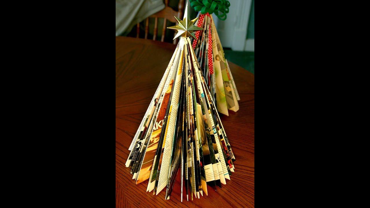 "How To Make A ""Magazine"" Christmas Tree (tutorial)"