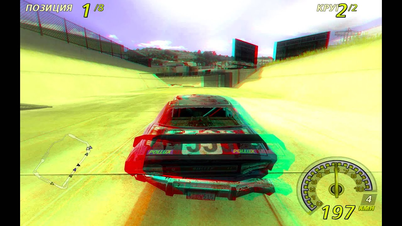 flatout2 3D anaglyph   анаглиф HD - YouTube a29e2bbb8d80a