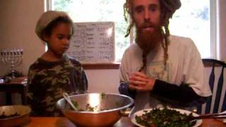 "Raw Kale ""superfood"" Salad From The Israel Family Garden-"