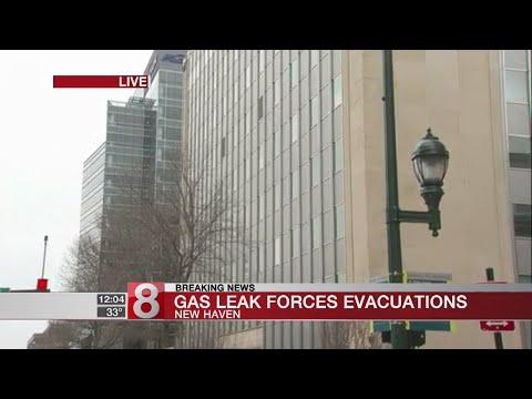 Major gas leak prompts evacuations, road closures in New Haven