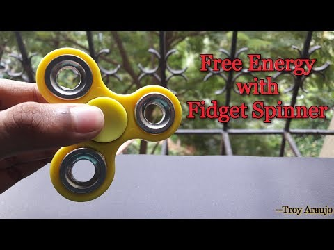 "How to produce Electricity with ""Fidget Spinner"" 