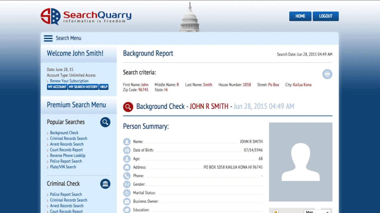 Court Records Lookup - SearchQuarry com